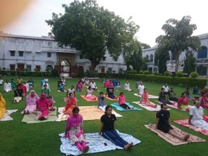 Yoga Day at Alakh Nayan Mandir